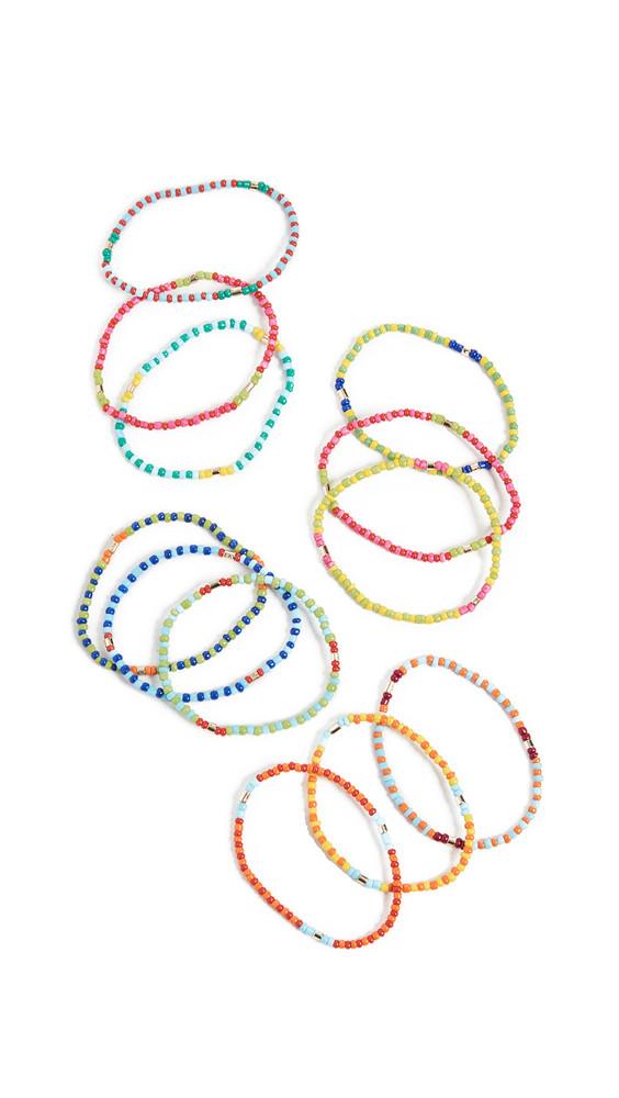 Roxanne Assoulin Patchwork - Set of Twelve Bracelets in multi