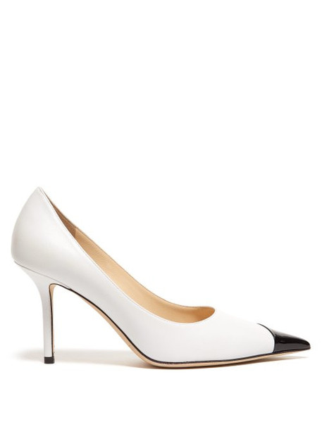 Jimmy Choo - Love 85 Colour Block Patent Leather Pumps - Womens - Black White