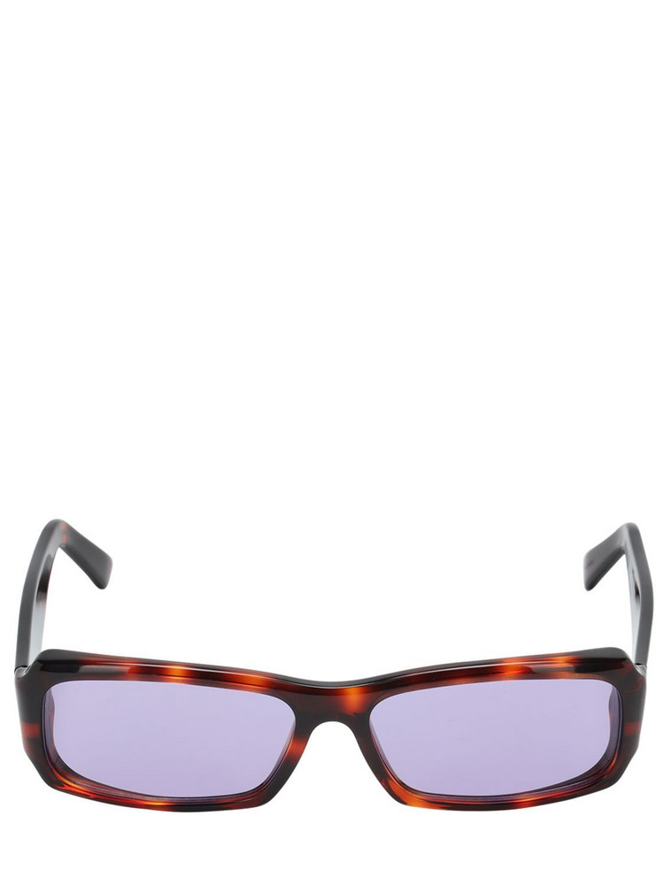 ANDY WOLF Omar Squared Acetate Sunglasses in purple