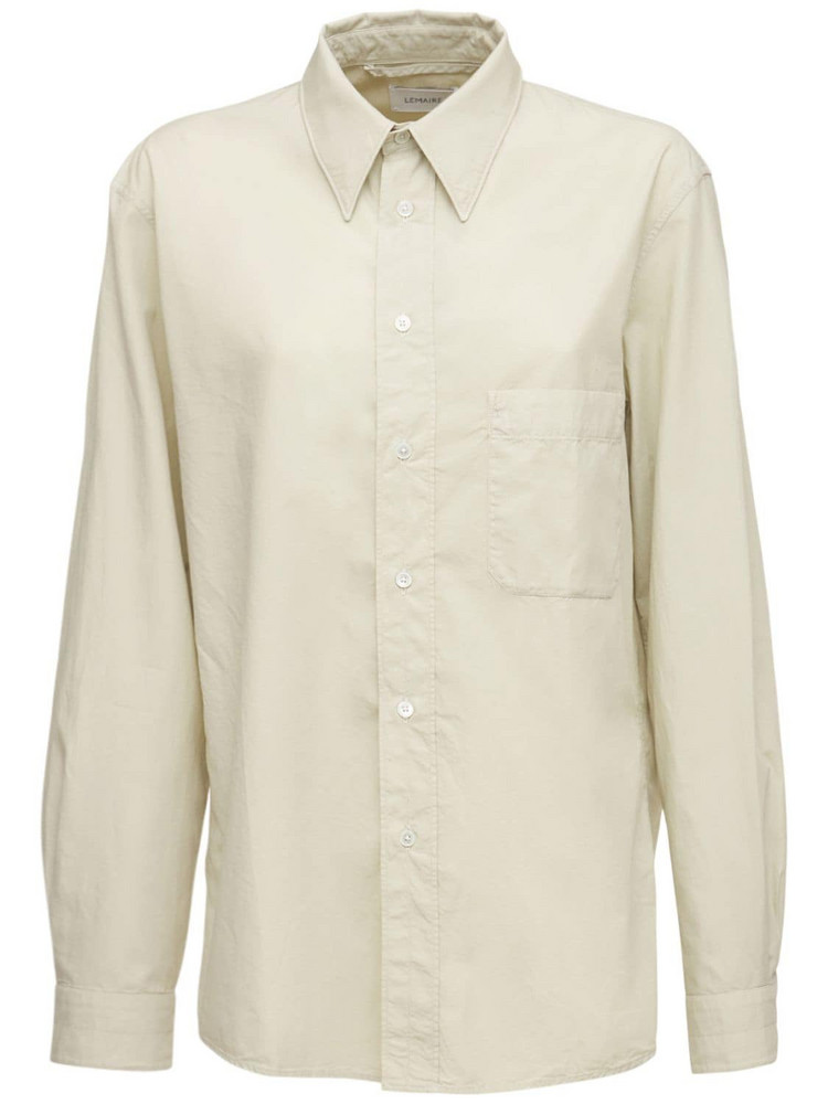 LEMAIRE Light Poplin Shirt in ivory