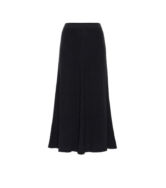 Joseph Cotton midi skirt in grey