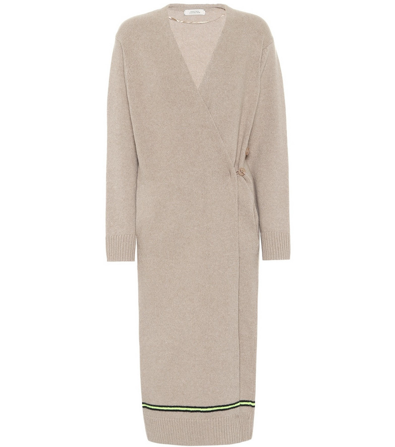 Dorothee Schumacher Wool and cashmere longline cardigan in beige