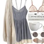 dress,blue dress,soft,feminine,tumblr outfit,girly,sundress,date outfit,cute dress,cute,comfy,soft grunge dress