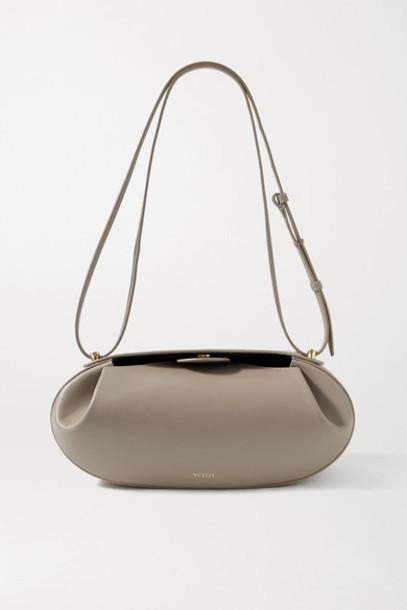 Yuzefi - Baguette Leather Shoulder Bag - Beige