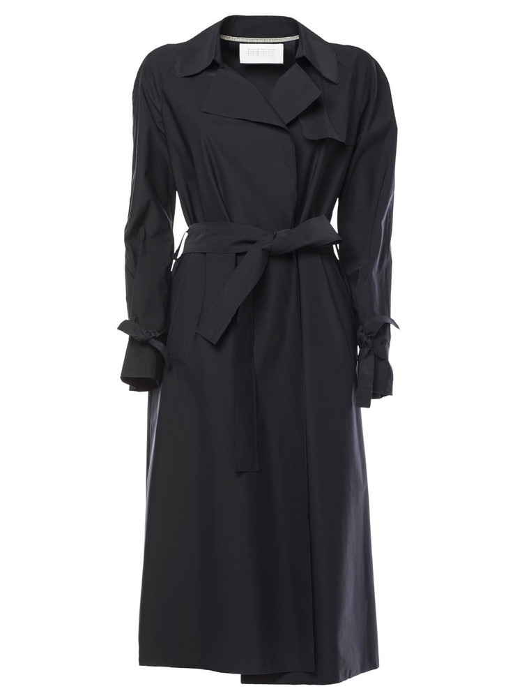 Harris Wharf London Belted Trench in blue