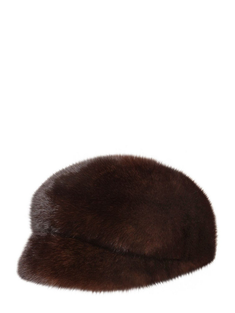 SIMONETTA RAVIZZA Furissima Mink Fur Hat in brown