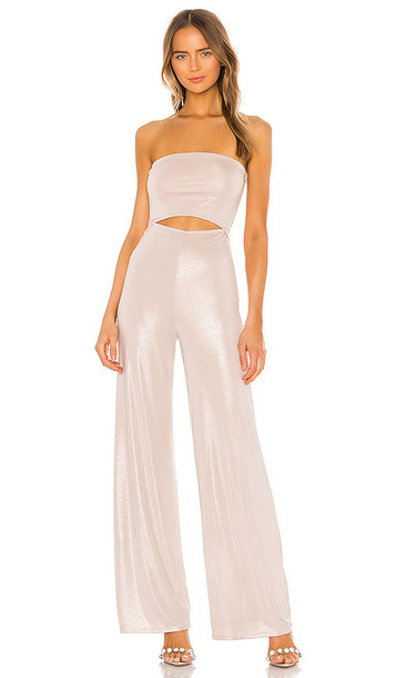 h:ours Shine Jumpsuit in Beige