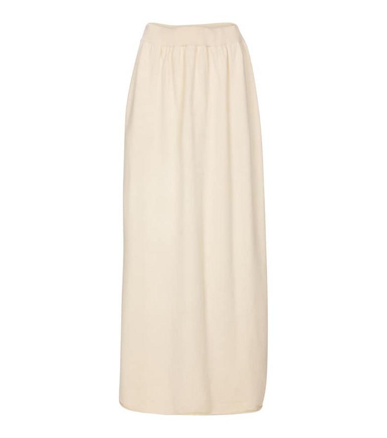 Extreme Cashmere N° 158 Skipper cashmere-blend maxi skirt in white