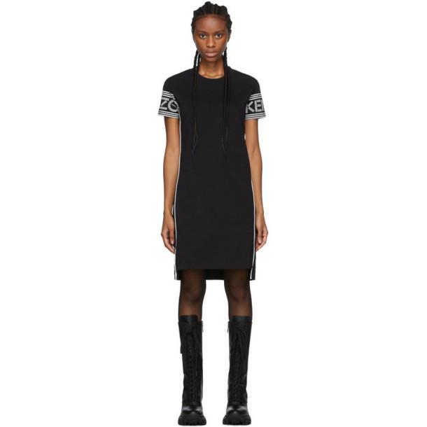 Kenzo Black Logo T-Shirt Dress