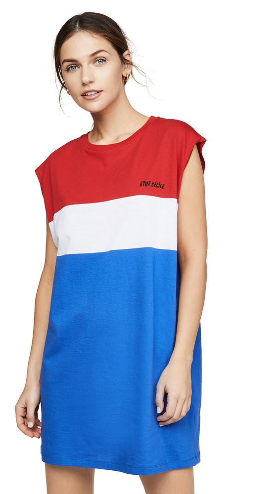 Etre Cecile Stripe Dress in blue / red / white