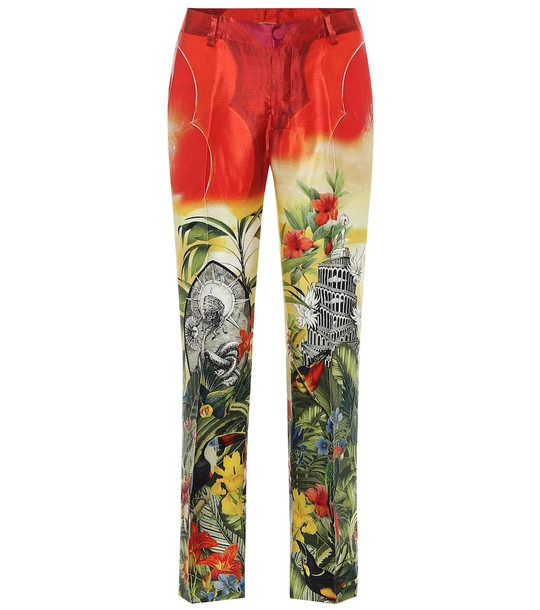 F.R.S For Restless Sleepers Tartaro printed silk pajama pants in red
