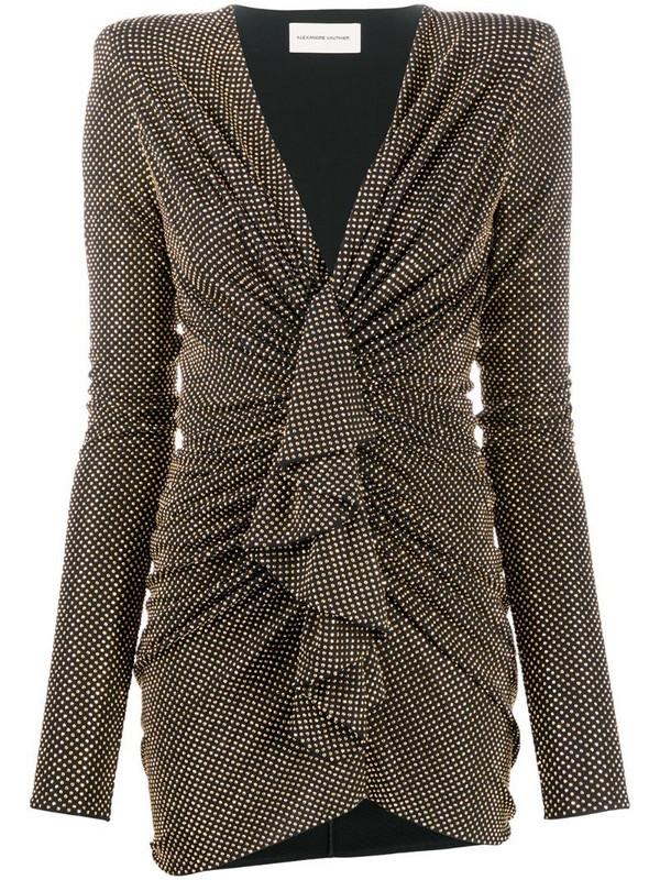 Alexandre Vauthier studded gathered dress in black