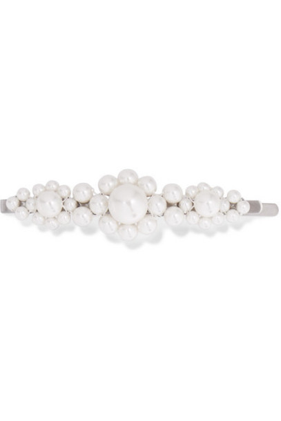 Simone Rocha - Silver-tone Faux Pearl Hair Slide - White