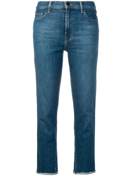 J Brand cropped Ruby jeans in blue
