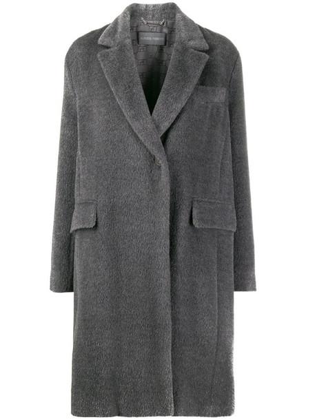 Alberta Ferretti single-breasted coat in grey