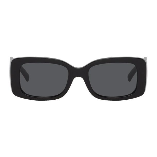 Versace Black Square 90s Vintage Logo Sunglasses