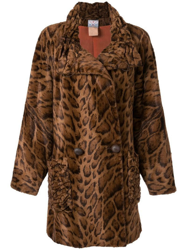 Fendi Pre-Owned faux fur coat in brown