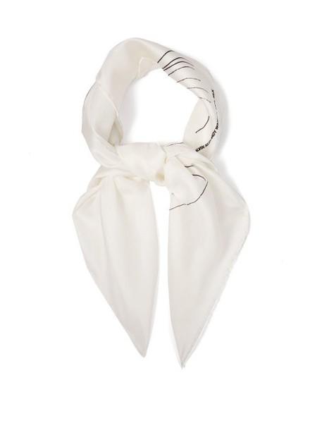 Calvin Klein 205w39nyc - Andy Warhol Print Silk Scarf - Womens - White