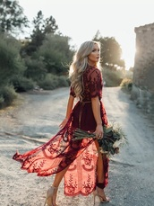 dress,burgundy,beach dress,lace dress,long dress