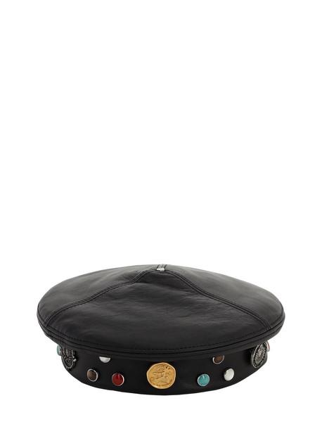 MONCLER GENIUS 1952 Leather Hat in black