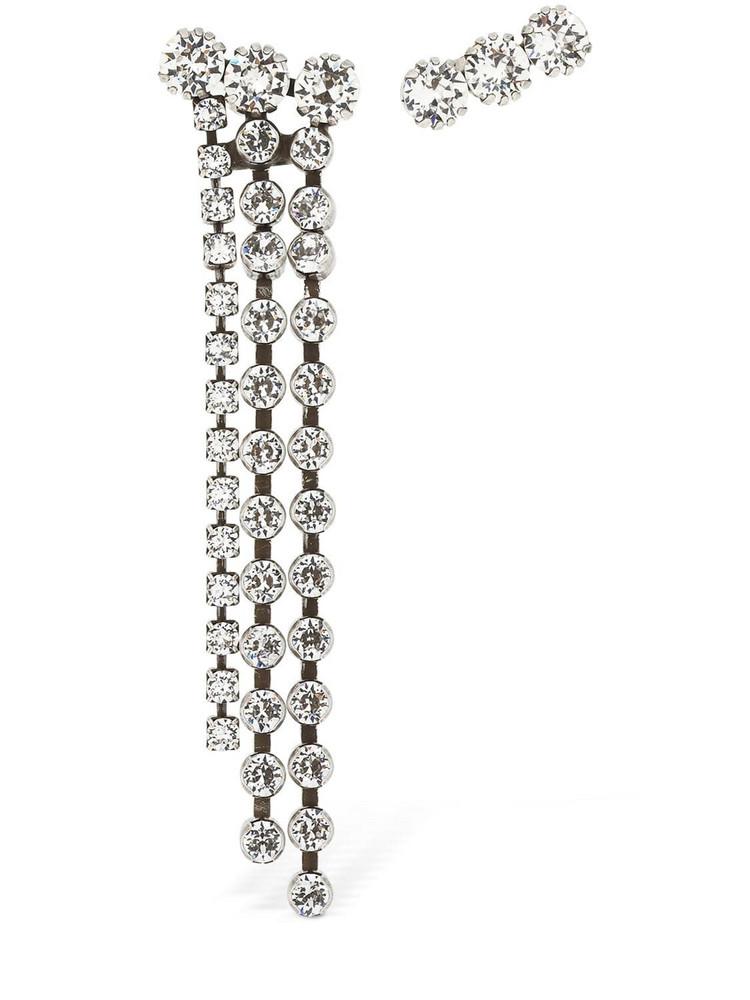 ISABEL MARANT Asymmetrical Crystal Earrings in silver