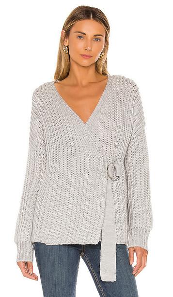 Tularosa Helen Wrap Sweater in Gray