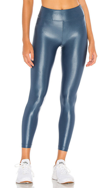 KORAL Lustrous High Rise Infinity Legging in Blue