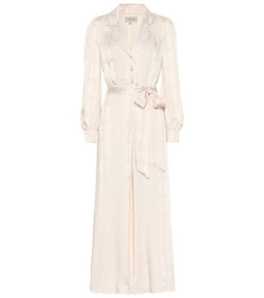 Temperley London Erika satin-jacquard jumpsuit in pink