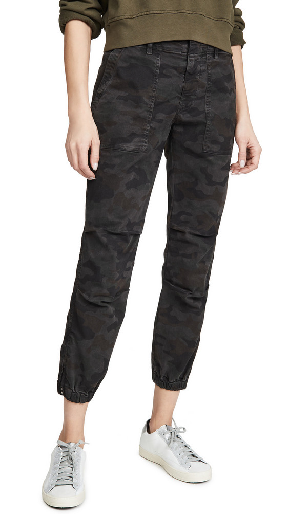 Nili Lotan Cropped French Military Pants in charcoal