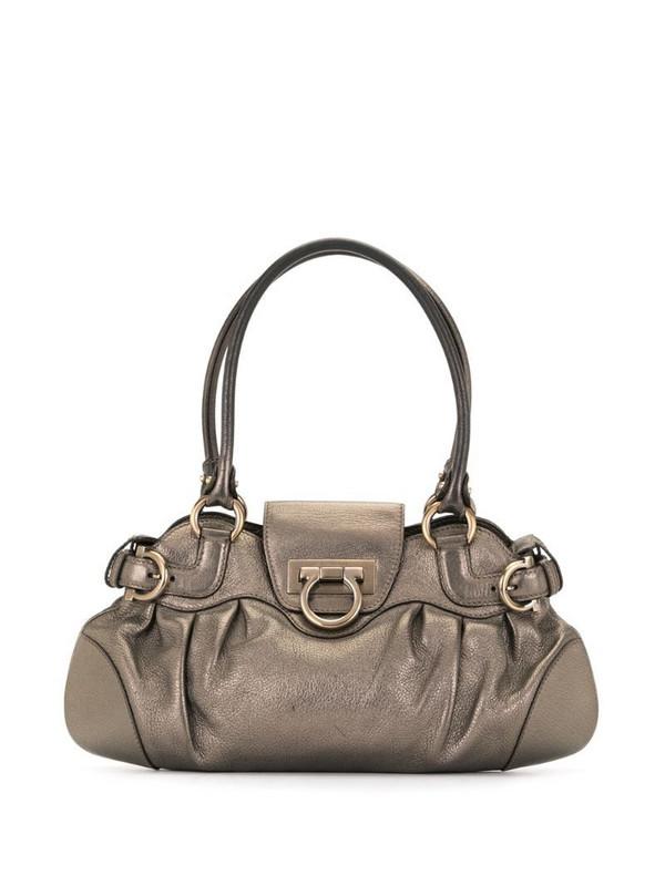 Salvatore Ferragamo Pre-Owned Gancini detail tote bag in brown