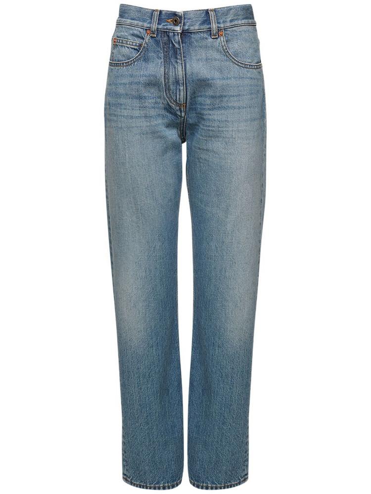VALENTINO Baggy Cotton Denim Jeans