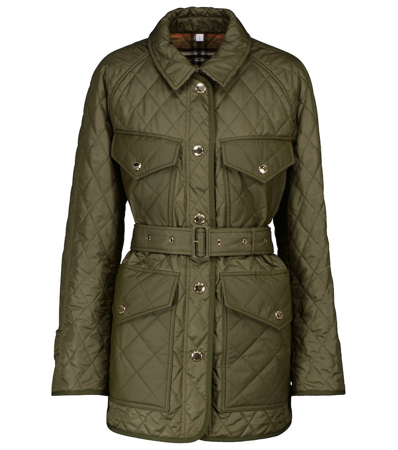 Burberry Quilted jacket in green