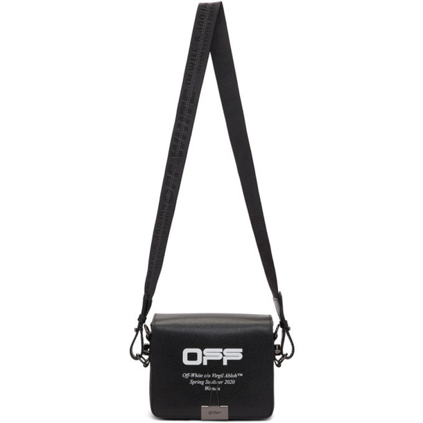 Off-White Black Wavy Logo Flap Bag