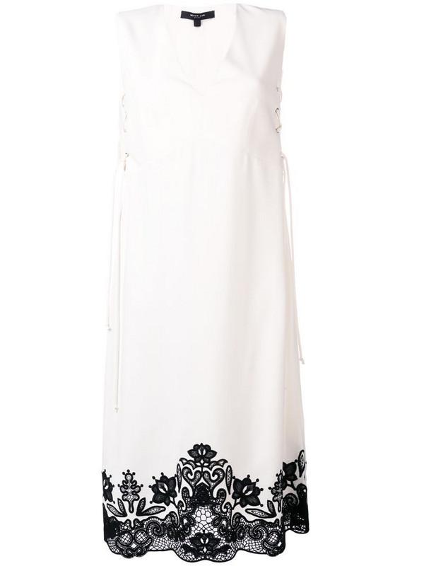Derek Lam sleeveless lace-up dress in white