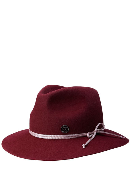 MAISON MICHEL Rico Felted Wool Hat in burgundy