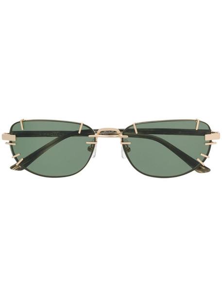Linda Farrow rectangular shaped sunglasses in brown