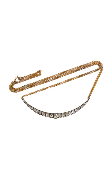 Toni + Chloë Goutal Toni + Chloë Goutal Jennifer One-Of-A-Kind Gold and Diamond Necklace in white