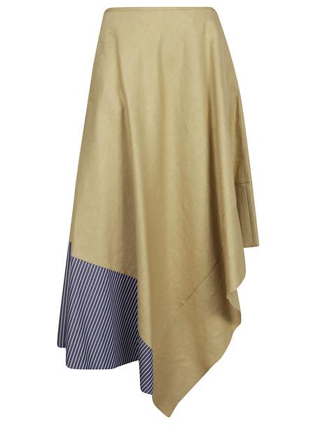 Loewe Asymmetric Maxi Skirt in blue / beige