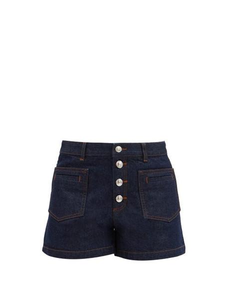 A.P.C. A.P.C. - Marine High-rise Denim Shorts - Womens - Denim