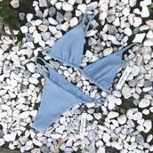 bikini top,blue bikini,swimwear,pastel swimwear