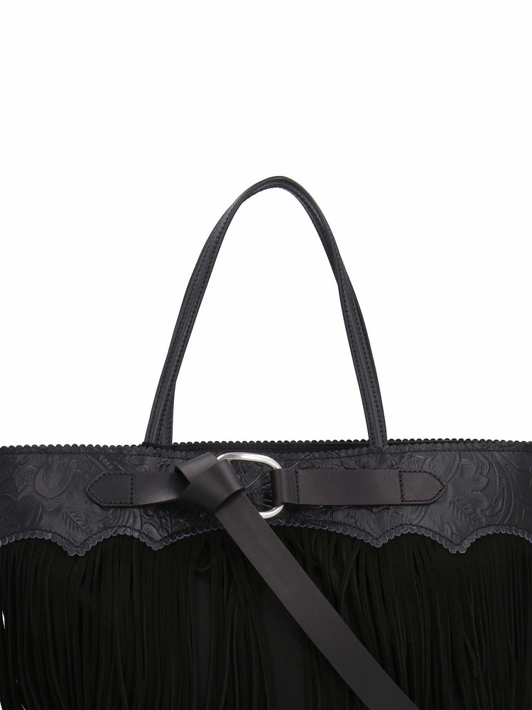 Dsquared2 Goldie Canvas And Leather Handbag in black