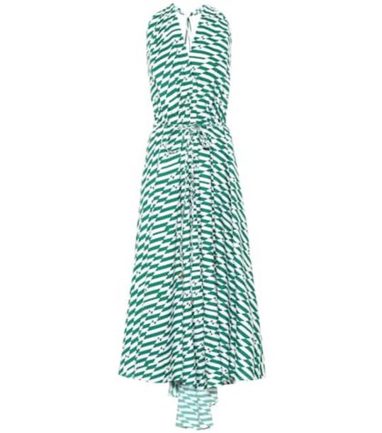 Alexandra Miro Goddess printed cotton dress in green
