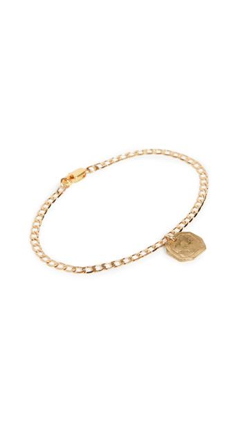 Maison Monik Heart Plate Bracelet in gold
