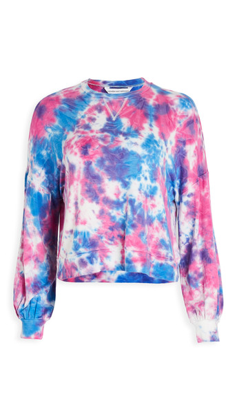 cupcakes and cashmere Gracey Tie Dye Sweatshirt in blue