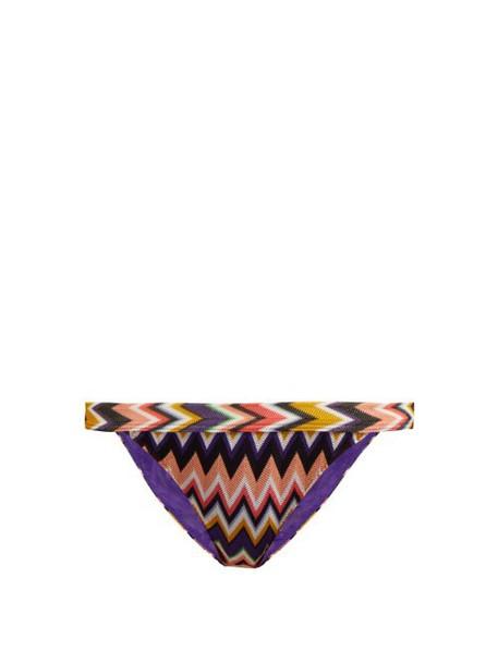 Missoni Mare - Zigzag Knit Bikini Briefs - Womens - Multi