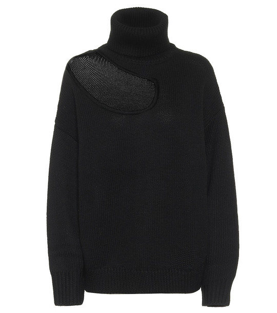 Monse Turtleneck wool sweater in black