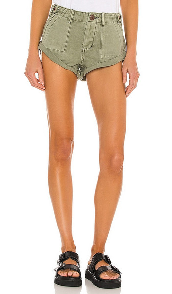 One Teaspoon Cargo Bandit Shorts in Army in khaki