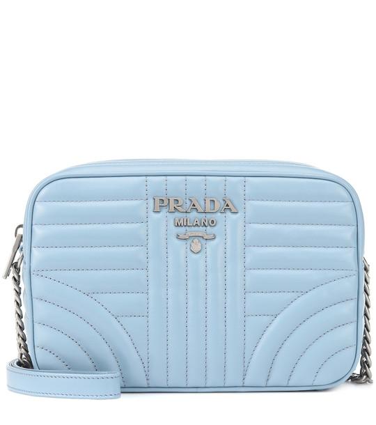 Prada Diagramme leather crossbody in blue