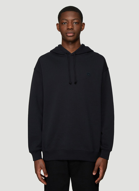 Acne Studios Hooded Oversized Face Patch Sweatshirt in Black size XS