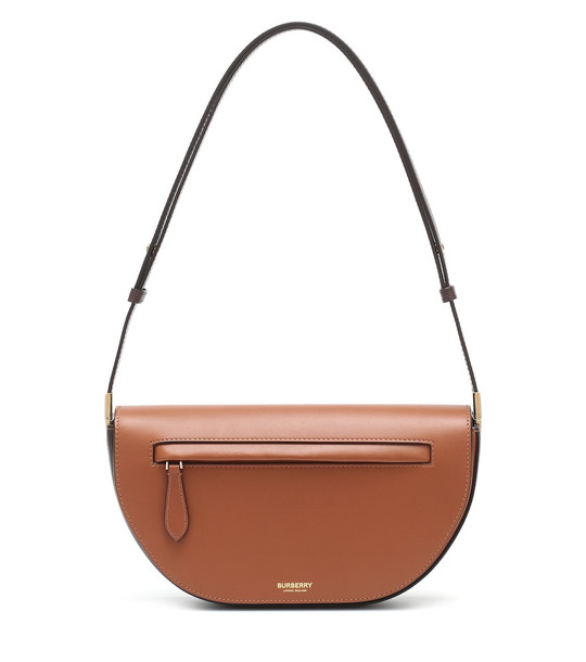 Burberry Olympia Small leather shoulder bag in brown